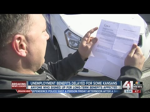 Kansas extended unemployment benefits backed up