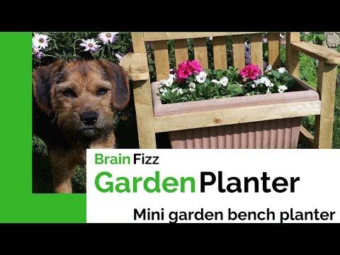 DIY Make a simple planter box that looks like a mini garden bench | Brainfizz