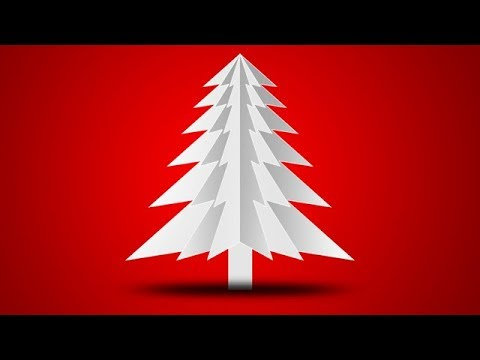 How to Make Merry Christmas Tree Greeting Card Design in Photoshop