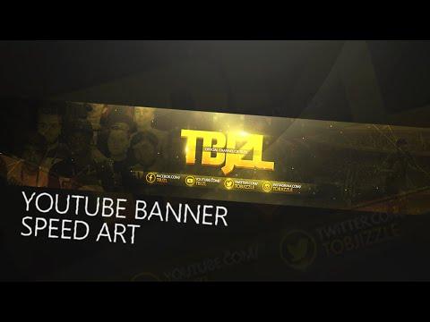Photoshop TBJZL Youtube Banner Speed Art- Sidemen