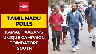 Kamal Haasan's Unique Campaign Trail In Coimbatore South; Sheds Superstar Image