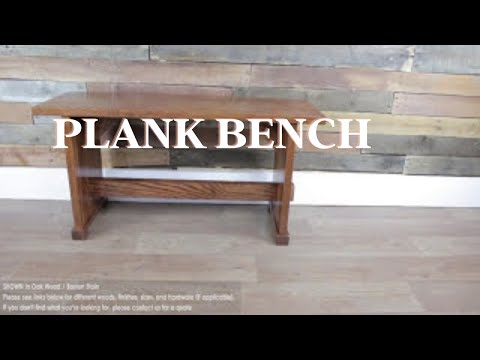 Plank Bench, Dining, Mudroom, Oak Wood, American Made Furniture, Rustic Red Door Co