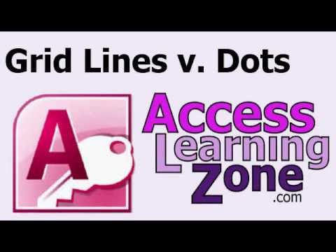 Microsoft Access Grid Lines vs. Grid Dots