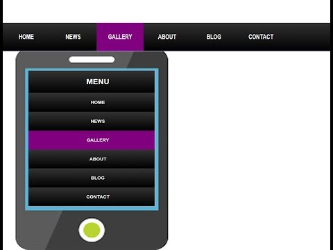 Responsive  navigation menus with hover effect | HTML and CSS