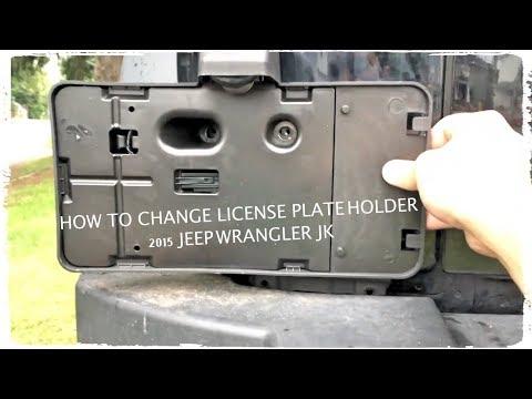 How to Change License Plate Holder 2015 Jeep JK Unlimited Sport