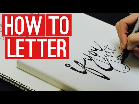 How to Letter | Canvas and Sharpie
