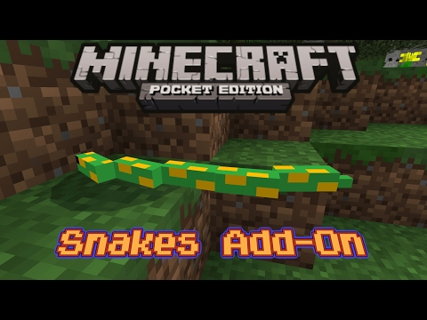 Snakes In Minecraft PE 1.0.6 (Add-On)