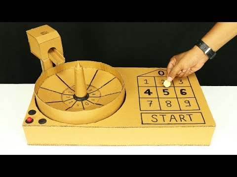 How To Make Casino Roulette Game from Cardboard at Home