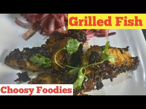 Indian Grill Fish / Grilled fish / Boneless fish grill