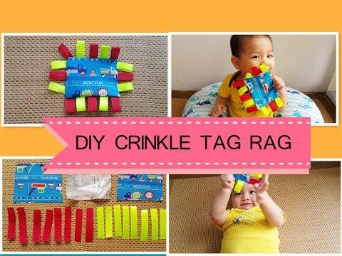 Super Easy DIY Crinkle Tag Rag Baby Toy