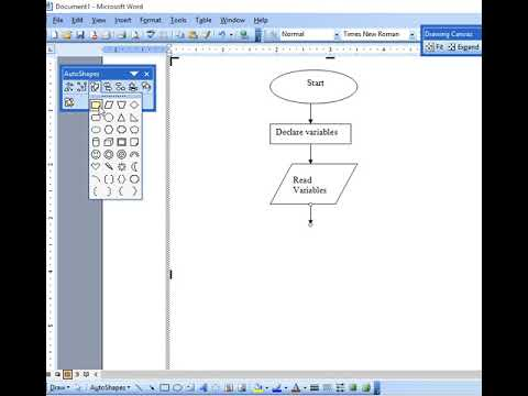 How to Draw Flow Chart in MS Word to Find Division of Two Numbers