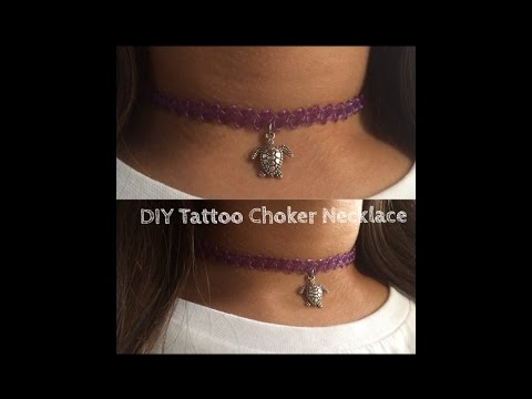 DIY Tattoo Choker Necklace