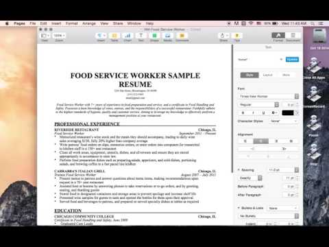 Mac OSX Tutorial: Export Resume as PDF (Pages)