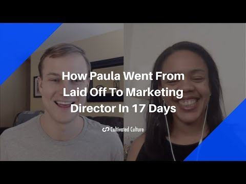 From Laid Off To Marketing Director In 17 Days