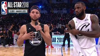 LeBron James & Stephen Curry Address the Crowd | 2018 NBA All-Star Game