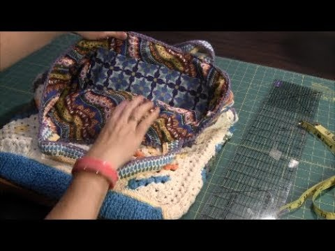 How to make a fabric lining for a crochet bag (Tutorial)