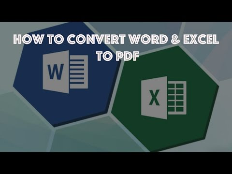 How To Convert a Word or Excel documents file  to PDF