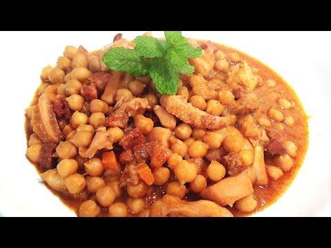 Cuttlefish stew with chickpeas
