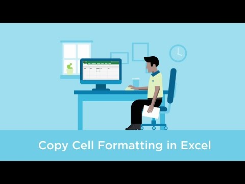 Copy cell formatting in Excel