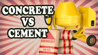 The Difference Between Concrete and Cement