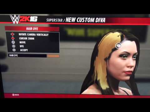 WWE 2K16 - Create a Diva Custom Dye Hair Feature!
