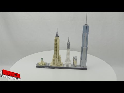 LEGO Architecture set 21028 New York (with Julian Velard) - Speed Build