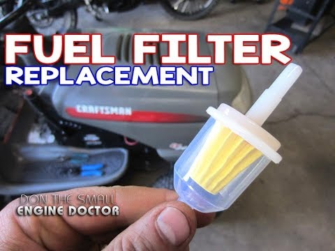 HOW-TO Replace The Fuel Filter On A Lawn Tractor