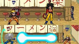 super smash flash 2 mod goku con armadura saiyajin y