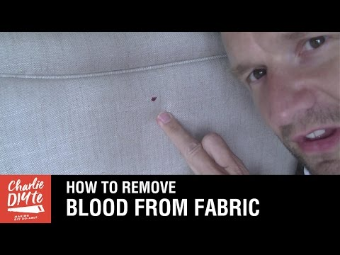 How To Remove Blood Stains From Fabric