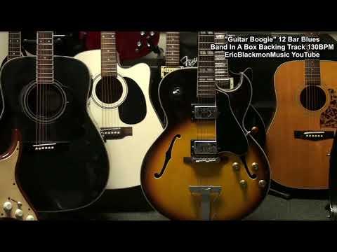 GUITAR BOOGIE 12 Bar Blues Band In A Box Backing Track 130bpm Key E