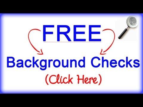 Free Background Checks (Criminal, Birth, Death, Divorce etc.)