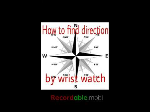 How to find direction by wrist watch.Mathemetry-8