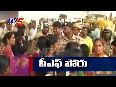 Central Govt Rolls Back Restrictions on PF Rules | Workers Violent Protest | Bangalore | TV5News