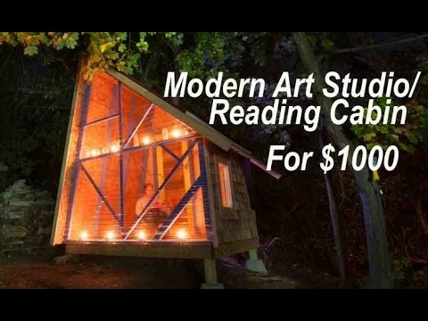 A $1000 backyard tiny house-like art/reading studio near Boston...
