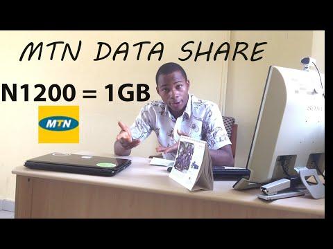 MTN Nigeria Internet Data 1GB for N1200 (FREE 1GB Give Away)