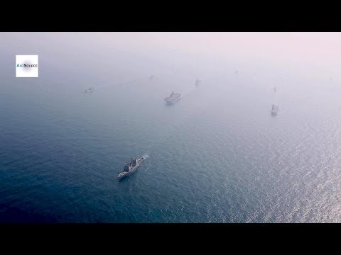 Korea, US Navy Ships in Formation. Exercise Ssang Yong 2014