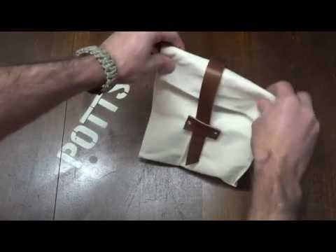 Make a Canvas and Leather, lined Lunch Bag (sew a sack)
