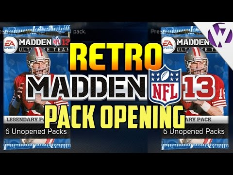 THROWBACK MADDEN 13 PACK OPENING!!! TWO 99s IN ONE PACK!!! - RETRO MADDEN PACK OPENING