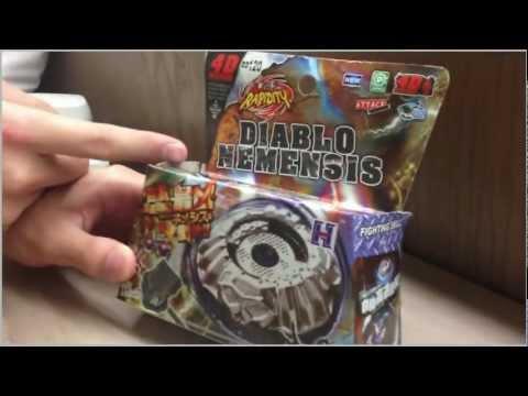 Fake BEYBLADE PROTOTYPE Diablo Nemesis - Beyblade UNBOXING! (Nemensis??)
