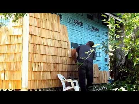 how to - hand made  cedar shingles / siding for my cabin