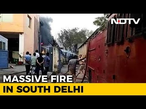 18 Hours On, Fire Rages In Delhi's Malviya Nagar; Air Force Joins Ops