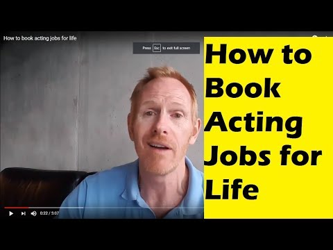 How to book acting jobs for life