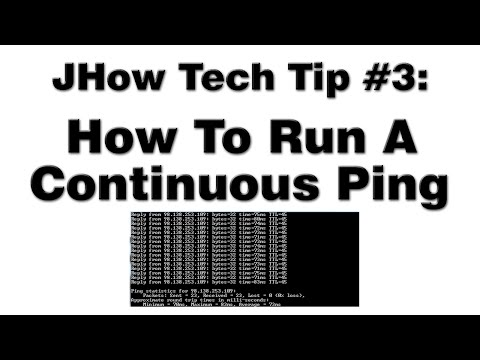 How To Run A Continuous Ping