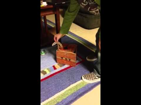 Minecraft building with cardboard part 1