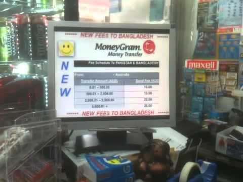 Moneygram display