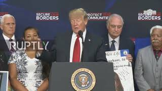USA: Trump promises stronger borders for bereaved 'angel families' in DC