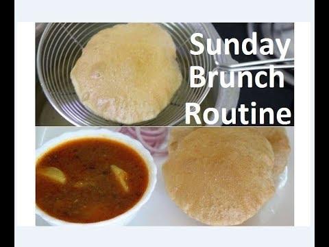 नए तरीके से बनाये पूरी के साथ खाने वाली आलू की सब्जी/ Sunday  brunch routine by Raks HomeKitchen
