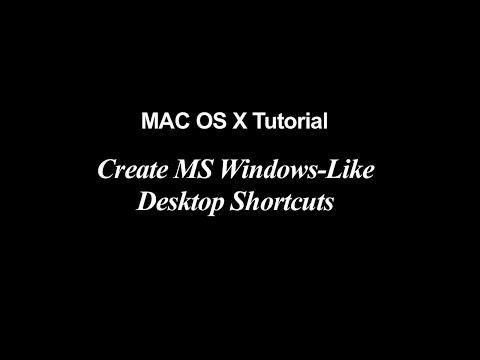 MAC OS X Tutorial | Create Windows-Like Desktop Shortcuts