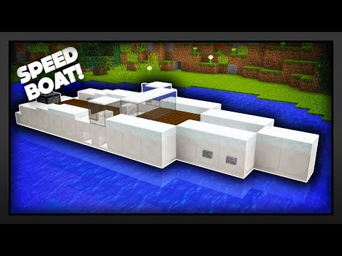 Minecraft - How To Make A Speed Boat