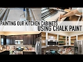 HOW TO PAINT YOUR KITCHEN CABINETS WITH CHALK PAINT